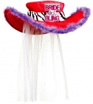Bachelorette Party Supplies & Favors - Bachelorette Bling Hat with Veil Ideas